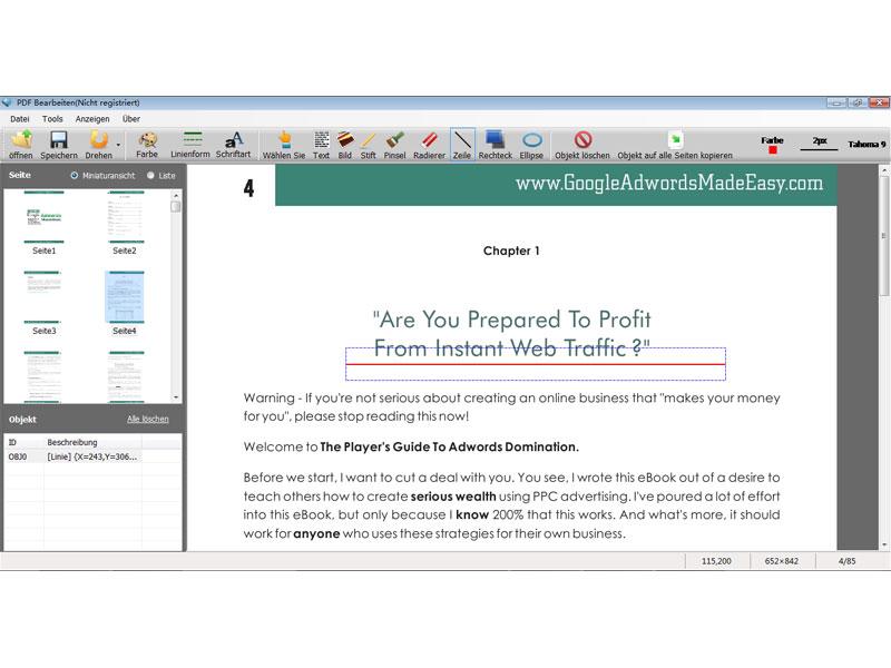 PDF Bearbeiten 2.8.8.7